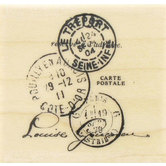 Tres Port Postal Rubber Stamp